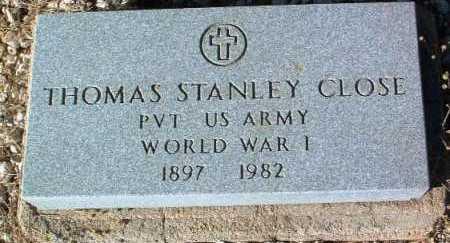 CLOSE, THOMAS STANLEY - Yavapai County, Arizona   THOMAS STANLEY CLOSE - Arizona Gravestone Photos
