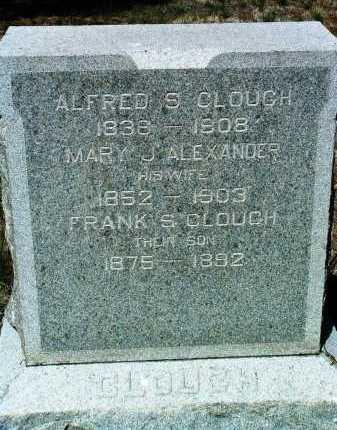 ALEXANDER CLOUGH, MARY JANE - Yavapai County, Arizona | MARY JANE ALEXANDER CLOUGH - Arizona Gravestone Photos
