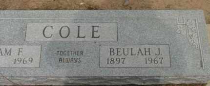 COLE, BEULAH J. - Yavapai County, Arizona | BEULAH J. COLE - Arizona Gravestone Photos