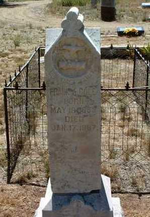 COLE, FRANK A. - Yavapai County, Arizona | FRANK A. COLE - Arizona Gravestone Photos