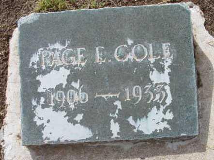 COLE, PAGE EVERSON - Yavapai County, Arizona | PAGE EVERSON COLE - Arizona Gravestone Photos