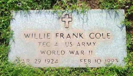 COLE, WILLIE FRANK - Yavapai County, Arizona | WILLIE FRANK COLE - Arizona Gravestone Photos