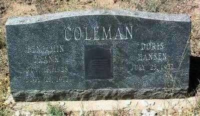 HANSEN COLEMAN, DORIS - Yavapai County, Arizona | DORIS HANSEN COLEMAN - Arizona Gravestone Photos