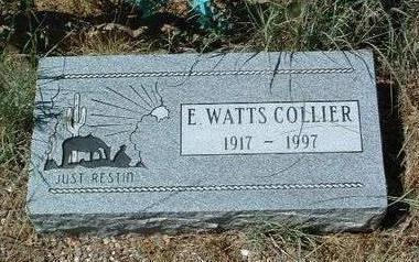 COLLIER, ELISHA WATTS - Yavapai County, Arizona | ELISHA WATTS COLLIER - Arizona Gravestone Photos