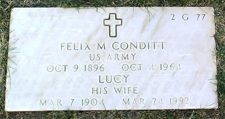 CONDITT, LUCY MAY - Yavapai County, Arizona | LUCY MAY CONDITT - Arizona Gravestone Photos