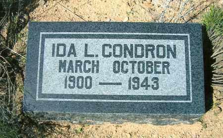MCDONOUGH CONDRON, IDA LUCRETIA - Yavapai County, Arizona | IDA LUCRETIA MCDONOUGH CONDRON - Arizona Gravestone Photos
