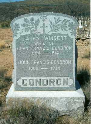 CONDRON, LAURA A. - Yavapai County, Arizona | LAURA A. CONDRON - Arizona Gravestone Photos