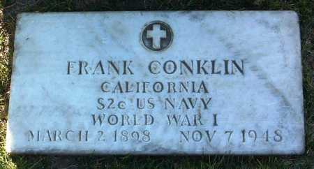 CONKLIN, FRANK - Yavapai County, Arizona | FRANK CONKLIN - Arizona Gravestone Photos