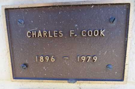 COOK, CHARLES F - Yavapai County, Arizona | CHARLES F COOK - Arizona Gravestone Photos