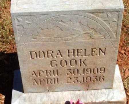COOK, DORA HELEN - Yavapai County, Arizona | DORA HELEN COOK - Arizona Gravestone Photos