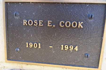 COOK, ROSE ELIZABETH - Yavapai County, Arizona   ROSE ELIZABETH COOK - Arizona Gravestone Photos