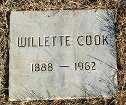 COOK, WILLETTE - Yavapai County, Arizona | WILLETTE COOK - Arizona Gravestone Photos