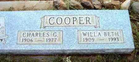 COOPER, WILLA BETH - Yavapai County, Arizona | WILLA BETH COOPER - Arizona Gravestone Photos