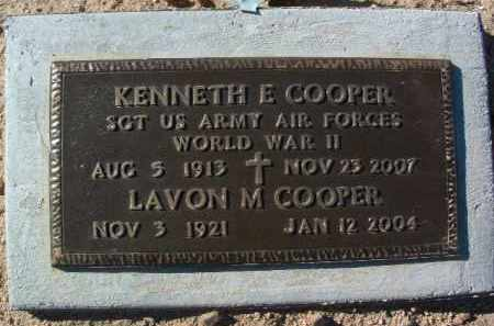 COOPER, EARNEST KENNETH - Yavapai County, Arizona | EARNEST KENNETH COOPER - Arizona Gravestone Photos