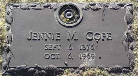 COPE, JENNIE M. - Yavapai County, Arizona | JENNIE M. COPE - Arizona Gravestone Photos