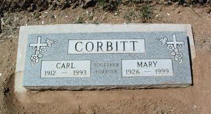 CORBITT, CARL FRANCIS - Yavapai County, Arizona | CARL FRANCIS CORBITT - Arizona Gravestone Photos