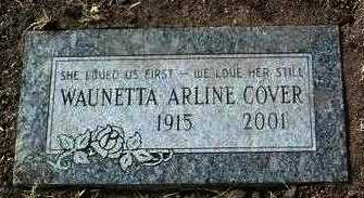 COVER, WAUNETTA ARLINE - Yavapai County, Arizona | WAUNETTA ARLINE COVER - Arizona Gravestone Photos