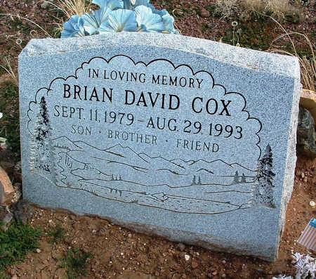 COX, BRIAN DAVID - Yavapai County, Arizona | BRIAN DAVID COX - Arizona Gravestone Photos