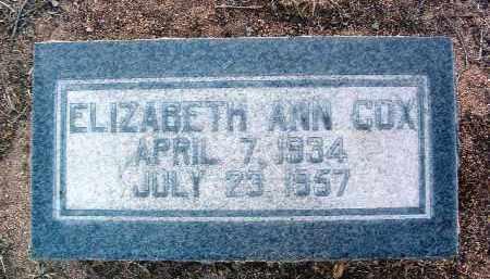 COX, ELIZABETH ANN - Yavapai County, Arizona | ELIZABETH ANN COX - Arizona Gravestone Photos