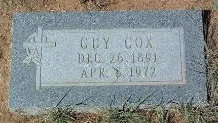 COX, R. GUY - Yavapai County, Arizona   R. GUY COX - Arizona Gravestone Photos