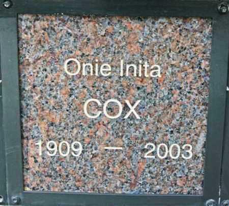 COX, ONIE INITA - Yavapai County, Arizona | ONIE INITA COX - Arizona Gravestone Photos