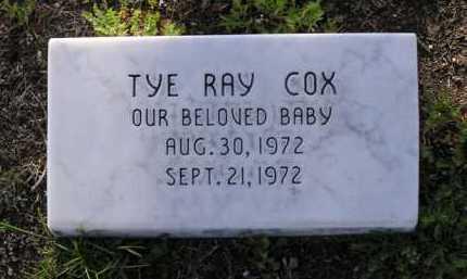 COX, TYE RAY - Yavapai County, Arizona | TYE RAY COX - Arizona Gravestone Photos
