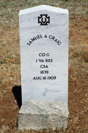 CRAIG, SAMUEL - Yavapai County, Arizona | SAMUEL CRAIG - Arizona Gravestone Photos