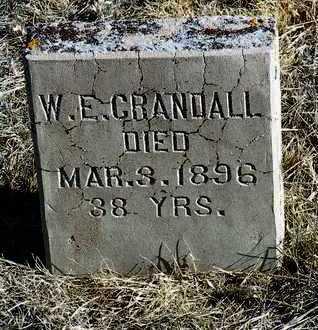 CRANDALL, WALTER E. - Yavapai County, Arizona | WALTER E. CRANDALL - Arizona Gravestone Photos