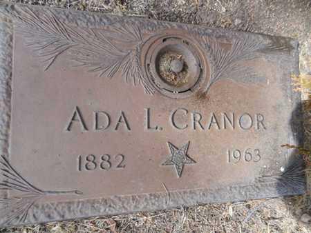 LOWRY CRANOR, ADA FERN - Yavapai County, Arizona | ADA FERN LOWRY CRANOR - Arizona Gravestone Photos