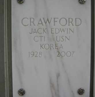 CRAWFORD, JACK EDWIN - Yavapai County, Arizona | JACK EDWIN CRAWFORD - Arizona Gravestone Photos