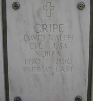 CRIPE, DAVID RALPH - Yavapai County, Arizona   DAVID RALPH CRIPE - Arizona Gravestone Photos