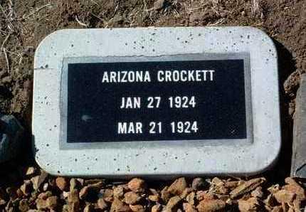 CROCKETT, ARIZONA - Yavapai County, Arizona | ARIZONA CROCKETT - Arizona Gravestone Photos