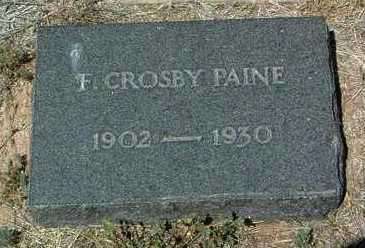 PAINE, FRANK CROSBY, JR. - Yavapai County, Arizona   FRANK CROSBY, JR. PAINE - Arizona Gravestone Photos