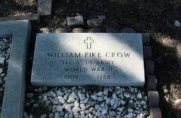 CROW, WILLIAM PIKE - Yavapai County, Arizona | WILLIAM PIKE CROW - Arizona Gravestone Photos