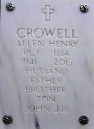 CROWELL, ALLEN HENRY - Yavapai County, Arizona | ALLEN HENRY CROWELL - Arizona Gravestone Photos