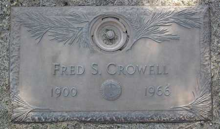 CROWELL, FRED S. - Yavapai County, Arizona | FRED S. CROWELL - Arizona Gravestone Photos