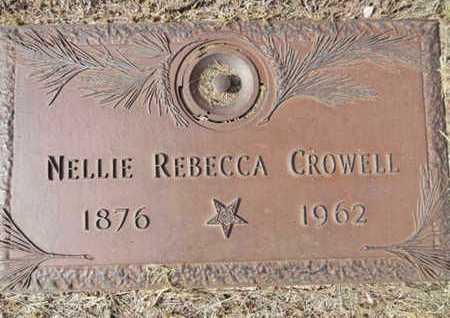 CROWELL, NELLIE REBECCA - Yavapai County, Arizona   NELLIE REBECCA CROWELL - Arizona Gravestone Photos