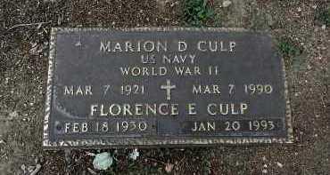 CULP, MARION DEE - Yavapai County, Arizona   MARION DEE CULP - Arizona Gravestone Photos