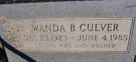 CULVER, WANDA BELL - Yavapai County, Arizona | WANDA BELL CULVER - Arizona Gravestone Photos