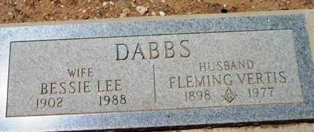 DABBS, FLEMING VERTIS - Yavapai County, Arizona   FLEMING VERTIS DABBS - Arizona Gravestone Photos