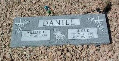 DANIEL, JUNE DOREEN - Yavapai County, Arizona | JUNE DOREEN DANIEL - Arizona Gravestone Photos