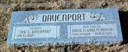 DAVENPORT, VIRGIE E. - Yavapai County, Arizona | VIRGIE E. DAVENPORT - Arizona Gravestone Photos