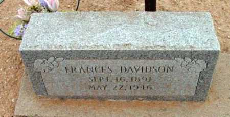 DAVIDSON, FRANCES - Yavapai County, Arizona | FRANCES DAVIDSON - Arizona Gravestone Photos