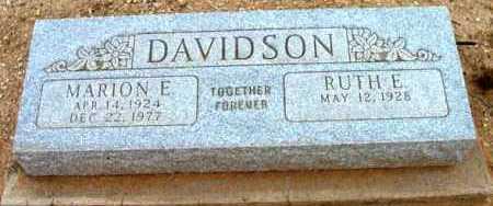 DAVIDSON, RUTH E. - Yavapai County, Arizona   RUTH E. DAVIDSON - Arizona Gravestone Photos