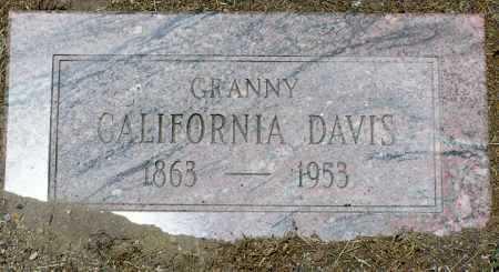 DAVIS, CALIFORNIA - Yavapai County, Arizona   CALIFORNIA DAVIS - Arizona Gravestone Photos