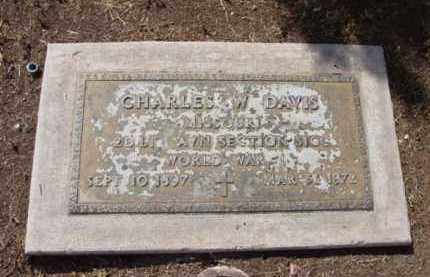 DAVIS, CHARLES W. - Yavapai County, Arizona   CHARLES W. DAVIS - Arizona Gravestone Photos