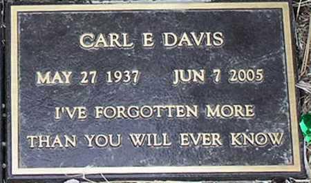 DAVIS, CARL EDWIN - Yavapai County, Arizona | CARL EDWIN DAVIS - Arizona Gravestone Photos