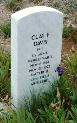 DAVIS, CLAY FRANCIS - Yavapai County, Arizona   CLAY FRANCIS DAVIS - Arizona Gravestone Photos