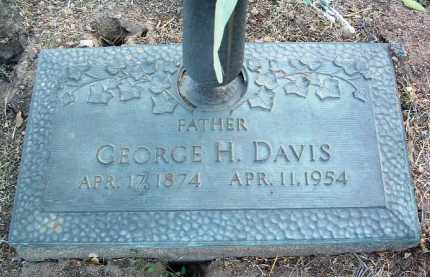 DAVIS, GEORGE HENRY - Yavapai County, Arizona   GEORGE HENRY DAVIS - Arizona Gravestone Photos