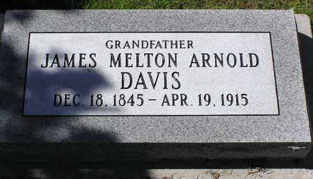DAVIS, JAMES MELTON ARNOLD - Yavapai County, Arizona   JAMES MELTON ARNOLD DAVIS - Arizona Gravestone Photos